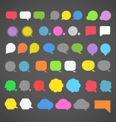 abstract color speech clouds silhouettes vector image vector image