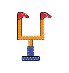 American football goal icon vector