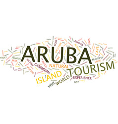 Aruba tourism text background word cloud concept vector