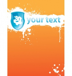 blot orange vector image vector image