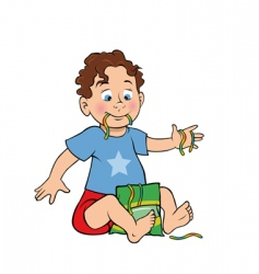 boy cartoon vector image