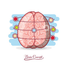 Brain concept design vector