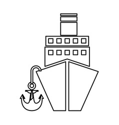 Cruise boat isolated icon vector