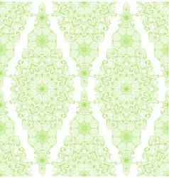 Decorative floral mandala seamless pattern vector image vector image