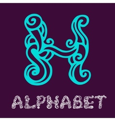 Doodle hand drawn sketch alphabet letter h vector