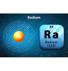 Flashcard of Radium atom vector image