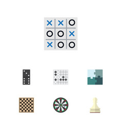 Flat icon play set of arrow chess table xo and vector