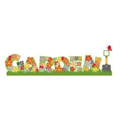 Garden banner vector