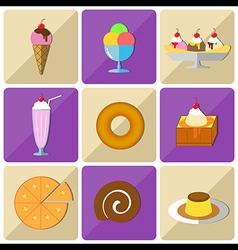 Icon dessert vector image