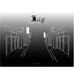 lines town city art vector image vector image
