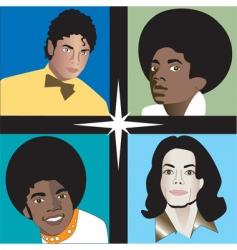 michael jackson rip vector image vector image