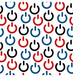 Power icon seamless pattern vector image vector image