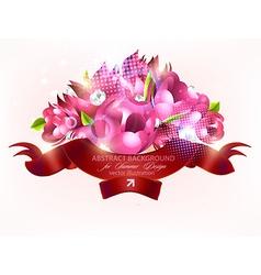 Romantic floral bouquet vector