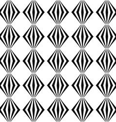 Seamless monochrome line pattern vector