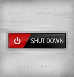 Shut Down Button vector image vector image