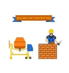 Under construction people vector
