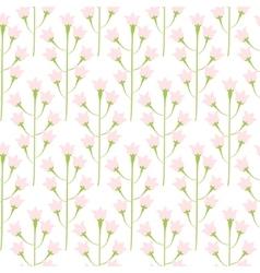 Wild bluebell pink pastel flower spring field vector image