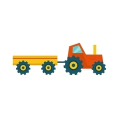 Tractor with trailer vector