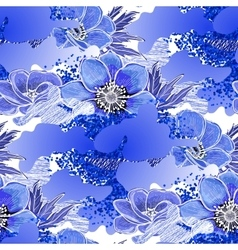 Abstract anemone pattern vector