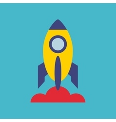 Rocket launcher startup icon vector