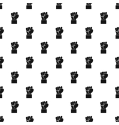 Clenched fist pattern simple style vector