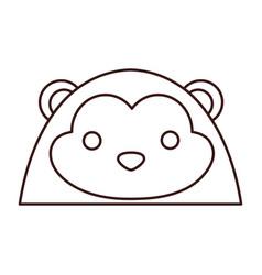 kawaii animal icon vector image