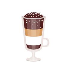 Coffee cocktail in irish coffee mug vector