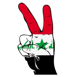 Peace Sign of the Iraqi flag vector image