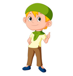 muslim boy standing vector image