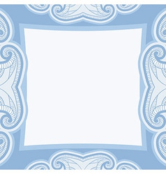 Oriental pattern in blue colors vector
