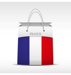 Shopping bag with france flag vector