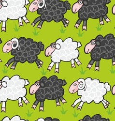 seamless sheep and ram vector image