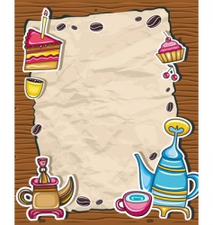 Cute coffee frame vector