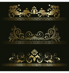 set from retro frames vector image
