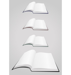 Open books collection vector image