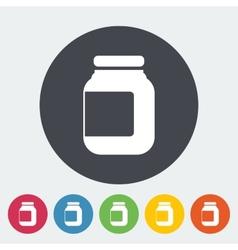 Jar icon vector image