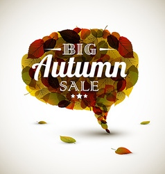 Autumn sale bubble vector image