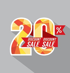 Discount 20 percent off vector