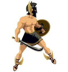 Perseus on white vector