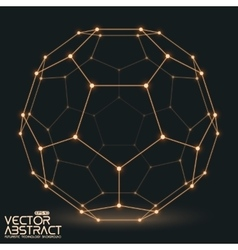 Abstract mesh sphere constructed with vector