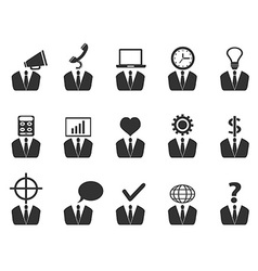 Business people idea icons set vector