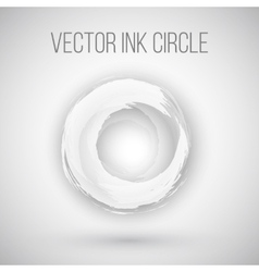 Watercolor ink circle texture logo vector