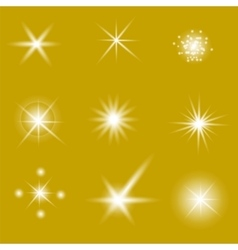 Set of different white lights vector