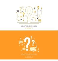 Quiz background vector