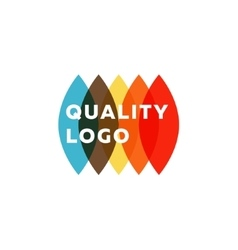 Colored flat semicircle style quality mark logo vector