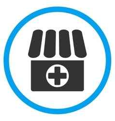 Clinic circled icon vector