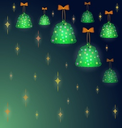 Background with christmas trees vector