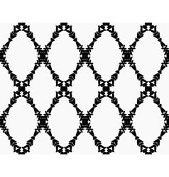 Black garland brush strokes pattern vector