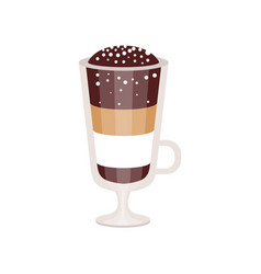 Coffee cocktail in irish coffee mug vector