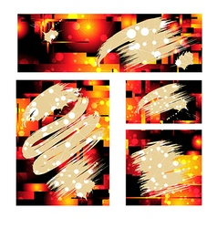 fiery background vector image vector image